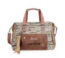 Anekke táska, utazótáska jungle klasszikus 45x22x33 cm